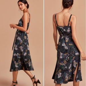 Aritzia Wilfred Astere Wrap Midi Dress